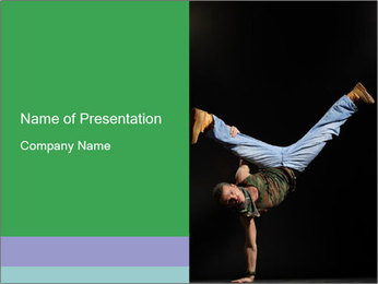 Dancing in HipHop Style PowerPoint Template