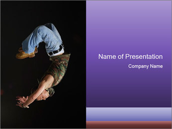 HipHop Dancer Jumping PowerPoint Template