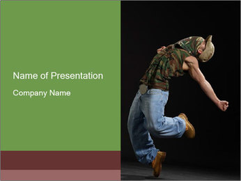 Passionate Nightclub Dance PowerPoint Template