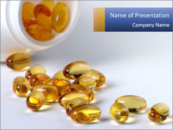 Omega 3 Capsules PowerPoint Template