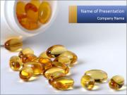 Omega 3 Capsules PowerPoint Templates