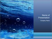 Bubbles in Swimming Pool PowerPoint Template