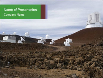 Observatory in Hawaii PowerPoint Template