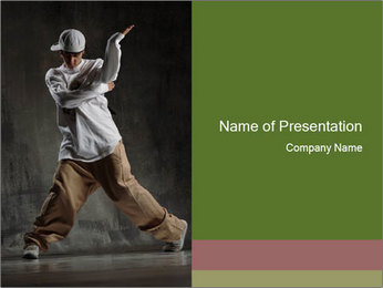 Beat Boy Dancer PowerPoint Template