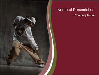 Comfortable Clothes for Breakdancing PowerPoint Template
