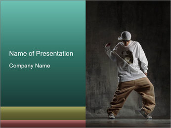 Casual Costume for Breakdancing PowerPoint Template