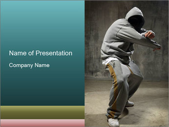 Costume for Breakdance PowerPoint Template