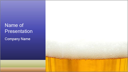 glass of fresh beer powerpoint template backgrounds google slides