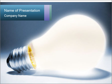 shining light bulb powerpoint template & backgrounds id 0000016776, Powerpoint templates