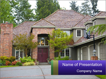Cottage in European Style PowerPoint Template