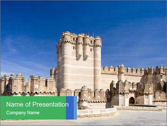 Antient Castle in Spain PowerPoint Template