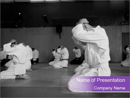 Judoists training powerpoint template backgrounds id 0000016824 judoists training powerpoint templates toneelgroepblik Choice Image
