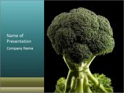 Organic Broccoli PowerPoint Templates