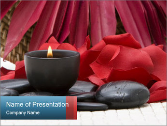 Aroma Candle in Romantic Bedroom PowerPoint Template