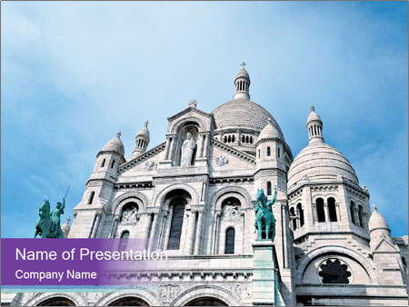 catholic church in europe powerpoint template & backgrounds id, Powerpoint templates