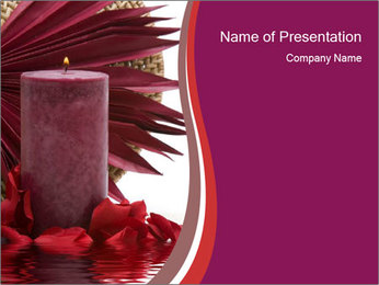 Aroma Therapy Candle PowerPoint Template