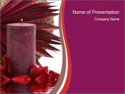 Aroma Therapy Candle PowerPoint Templates