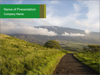 Road with Scenic View PowerPoint Template