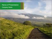 Road with Scenic View PowerPoint Templates