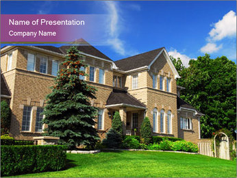 Frontyard of Large Villa PowerPoint Template