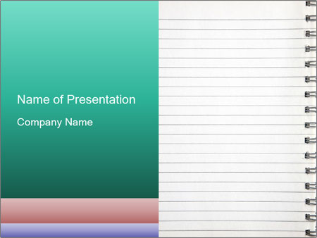 Write Memo In Notebook Powerpoint Template Backgrounds Google