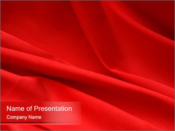 Red Satin Fabric PowerPoint Template