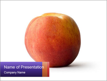 Season of Peach PowerPoint Template