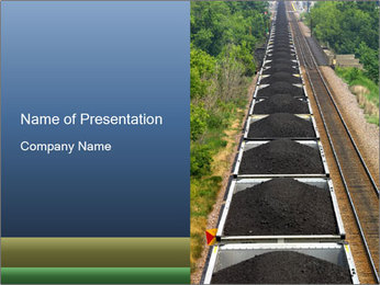 Running Train with Coal PowerPoint Template
