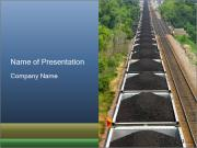 Running Train with Coal PowerPoint Templates