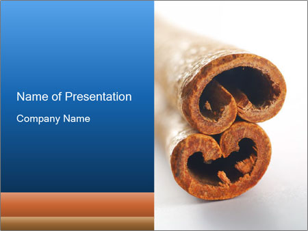 natural cinnamon sticks powerpoint template & backgrounds id, Presentation templates