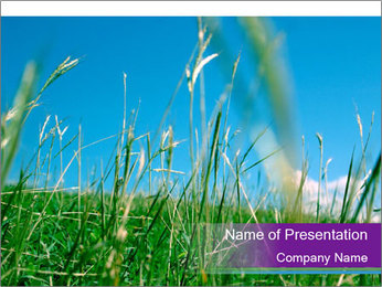 Fresh Glass in the Countryside PowerPoint Template