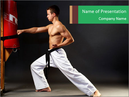 Karate training powerpoint template backgrounds id 0000017093 karate training powerpoint template toneelgroepblik Images
