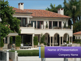 Residence of Wealthy Businessman PowerPoint Template