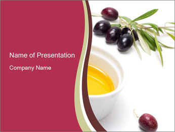 Organic Virgin Olive Oil PowerPoint Template