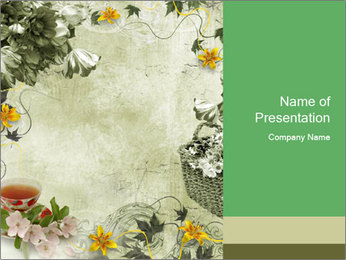 Artistic Floral Background PowerPoint Template