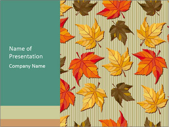 Vector Autumn Leaves Pattern PowerPoint Template