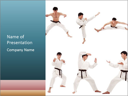 Karate training powerpoint template backgrounds id 0000017224 karate training powerpoint template toneelgroepblik Choice Image