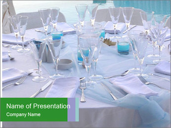 Wedding Table Decoration PowerPoint Template