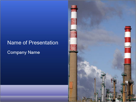 industrial chimney powerpoint template & backgrounds id 0000017251, Modern powerpoint