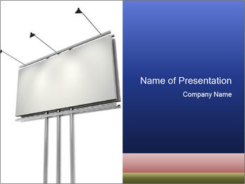 Huge Blank Billboard at Road Side PowerPoint Template