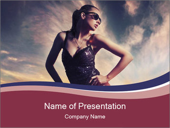Glamour Lady Photo Shooting PowerPoint Template