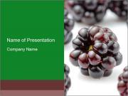 Organic Blackberries PowerPoint Templates