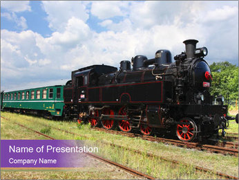 Retro Locomotive PowerPoint Template
