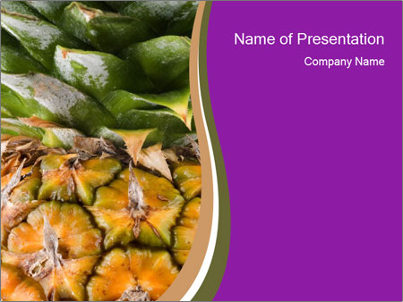 nutritional pineapple powerpoint template & backgrounds id, Modern powerpoint