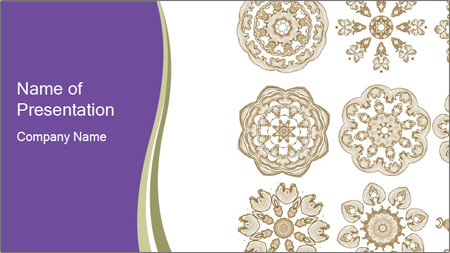 Decorative Christmas Snowflakes Powerpoint Template Backgrounds