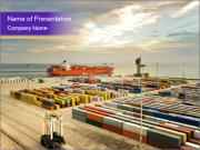 Port with Large Containers PowerPoint Templates