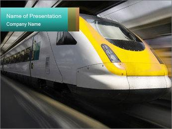 Modern High Speed Train PowerPoint Template