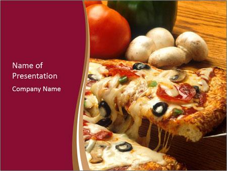 Pizza Powerpoint Template | Supreme Italian Pizza Powerpoint Template Backgrounds Google