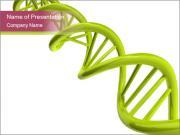Зеленый цепи ДНК Шаблоны презентаций PowerPoint