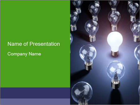 One Bright Lightbulb Powerpoint Template Backgrounds Id 0000017512